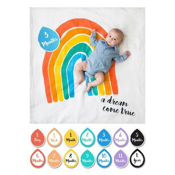 Rainbow Dream - Baby's First Year Milestone Swaddle & Cards