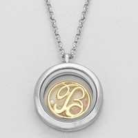 "Floating Monogram ""B"" Necklace Silver"