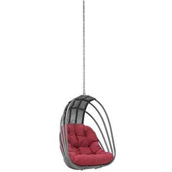 Whisk Outdoor Patio Swing Chair Without Stand Red EEI-2656-RED-SET