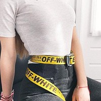 OFF-WHITE Tide brand men's and women's simple and versatile belt