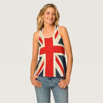 Union Jack Flag All-Over Print Racerback Tank Top