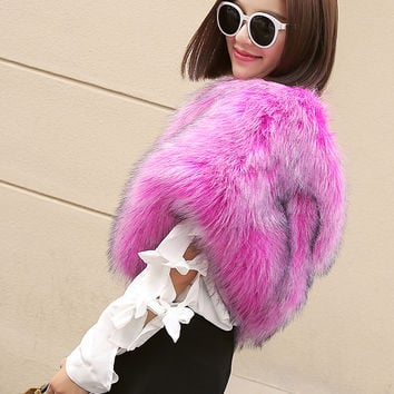 Hot Pink Fluffy Faux Fur Shoulder Snood