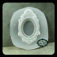 resin MOLD Cameo Setting Jewelry Frame with 30x40mm Inset also for polymer clay, pmc, plaster, soaps, and candles