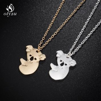 oly2u Animal Necklace Bears Giraffe Necklace For Children Gift Animal Necklaces Statement Jewelry Gifts Cute Koala Bear Necklace