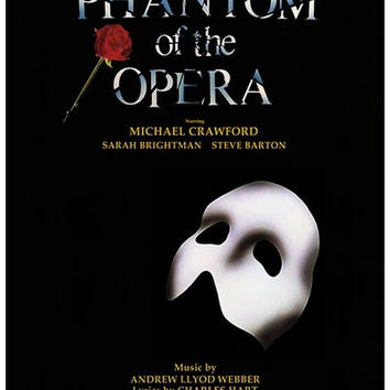Phantom of the Opera British Cast Poster 11x17
