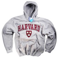 Harvard Shirt Hoodie Sweatshirt College University Crimson Crew NCAA Officially Licensed Collegiate Product Gray
