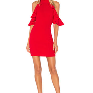 Amanda Uprichard Haven Dress in Scarlet
