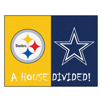 Pittsburgh Steelers-Dallas Cowboys NFL House Divided All-Star Floor Mat (34x45)