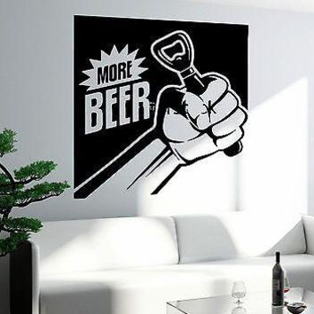 Wall Decal Funny Drink Beer Need More Beer Bar Decor Unique Gift (z2642)
