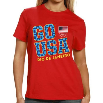 US Olympic Team Women's Go Rio 2016 T-Shirt - Red