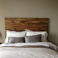 Cedar Barn Wood Style Headboard - Handmade In Chicago.