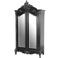 Sassy Boo 2-Door Mirrored Armoire|Armoires  Wardrobes|Storage|French Bedroom Company