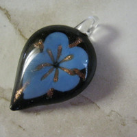 Orchid Glass Flower Pendant