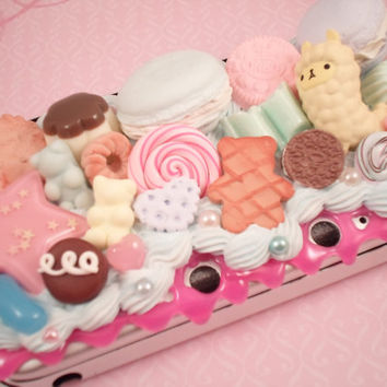 Delux Sweet and Sugary Cotton Candy Kawaii Alpaca Decoden Case for Nintendo 3ds XL