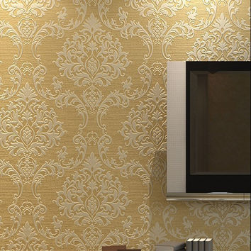 Home improvet of European style non-woven wallpaper, ultra - thick, solid - deep - pressure - textured cloud 3D wallpaper bedroom TV back
