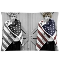 Good Design Fashion Pillow CoverCustom Evan Peters With American Flag Home Decorative Pillowcase Pillow Case Cover 20*30 Two Sides Print