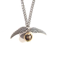 Harry Potter Golden Snitch Long Necklace