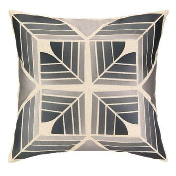 Gridley Modern Grey Pillow
