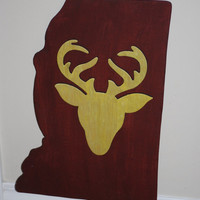 Deer Silhouette Mississippi State Cutout