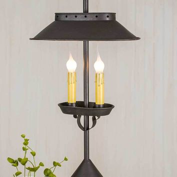 Rustic Large Double Candle Desk Lamp
