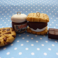 Chocolate Polymer Clay Charms