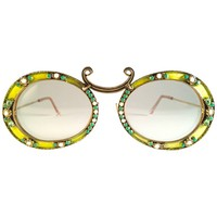 Ultra Rare 1960 Christian Dior Enamel Jewelled by Tura Collector Item Sunglasses