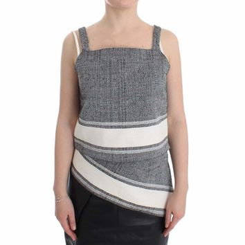 SACHIN & BABI Gray Elegant Cotton Top Blouse