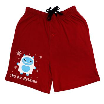 Yeti (Ready) for Christmas - Abominable Snowman Adult Lounge Shorts - Red or Black by TooLoud