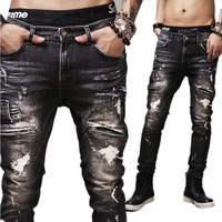 Bike Life Vintage Distressed Denim