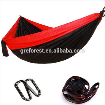 best price outdoor portable nylon parachute hammock for one people