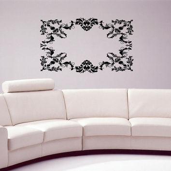 Gothic Ornament Architecture Style Art Decoration Medieval Element Living Room Wall Decal Bedroom Sticker Modern Wall Decal Sticker nm276
