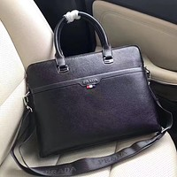 PRADA MEN'S NEW STYLE LEATHER BRIEFCASE BAG