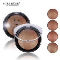MISS ROSE 1PC For Black Women Beauty Face Blush Makeup Baked Cheek Color Bronzer Blusher Palette colorete Sleek Cosmetic Shadows