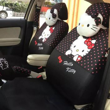 MUNIUREN 18pcs Cute Polka Dots Print Car Seat Covers