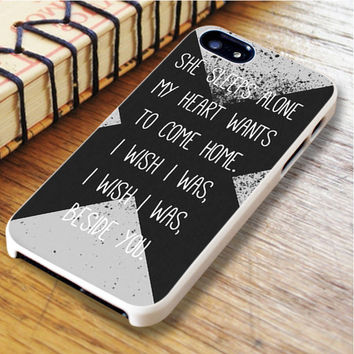 5sos Lyric Beside  Beside 5 seconds of summer 5SOS Lyric Beside | For iPhone 6 Plus Cases | Free Shipping | AH1093