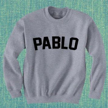 DCCKR2 PABLO new letters printed sweater shirt men and women with the same paragraph