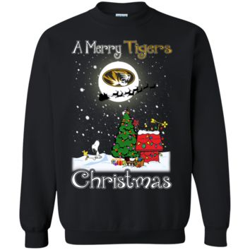 Cover your body with amazing Missouri Tigers Snoopy Ugly Sweaters Merry Christmas