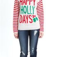 Eyeshadow Holly Ugly Christmas Sweater with Hat IL0579CA40515