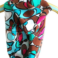 Infinity Multicolor swirly Loop Scarf