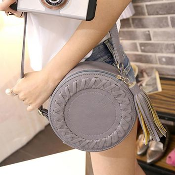 Famous Brand Women Handbags PU Leather Women Messenger Bag Circle Design Crossbody Bags Shoulder Bag