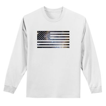 American Flag Galaxy Adult Long Sleeve Shirt by TooLoud