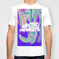 Psychedelic Arctic Monkeys Logo T-shirt by julia