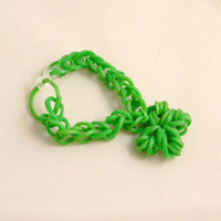 Loom Band Bracelet, Rainbow Loom,Rubber Band Bracelet, St. Patrick's Day