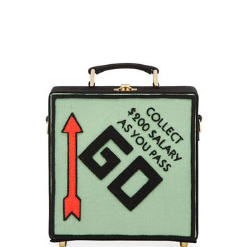 Olympia Le-Tan Pass Go Monopoly Box Shoulder Bag