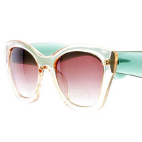 Endorsement Clear Lucite Sunglasses