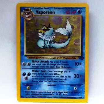 Vaporeon 12/64 Holo Rare Pokemon Jungle NM