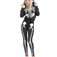 Skeleton Adult Womens Hoodie - Spirithalloween.com