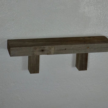 Simple recycled wood shelf 19x4 eco friendly reclaimed wood