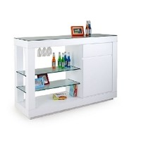Scandinavia Furniture Metairie New Orleans Louisiana offers Contemporary & Modern Furniture for your Living Room - CELLINI - 'DONE' WHITE COUNTER BAR - ScandinaviaFurniture.com