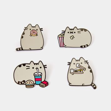 Pusheen Snacks metal pin set